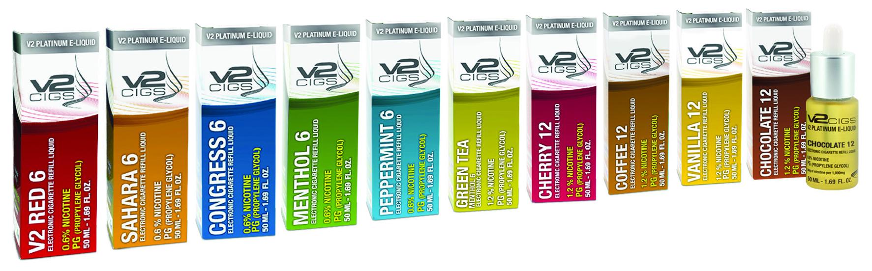 V2 Range of E-Liquids