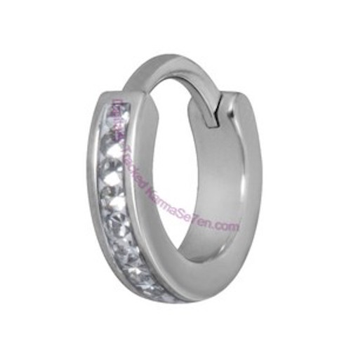 Tragus and helix ring clear crystal