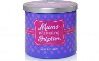 Yankee Candle - Sentiments - Mums Make Everything Brighter (Lilac Blossoms)