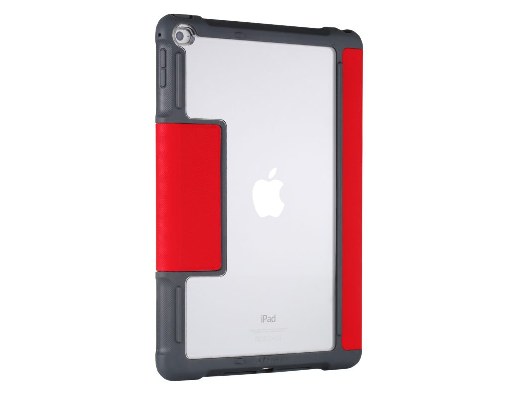 stm dux ipad air 2 back angle red lowres